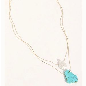 Free People Kayla Delicate Turquoise Necklace
